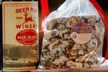 Deer Run cookie with Max Black wine from Deer Run Winery
